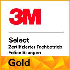 3M Gold Zertifizierter Fachbetrieb für Folienlösungen